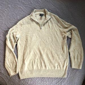 Dockers Three Quarter Zip Sweater   Large